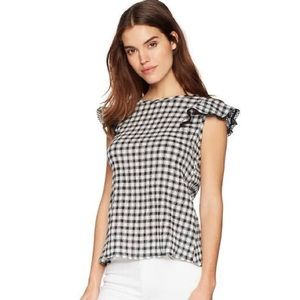 Short Sleeve Gingham Gauze Short  Sleeve